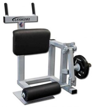 ISO Plate Loaded Standing Leg Curl Machine